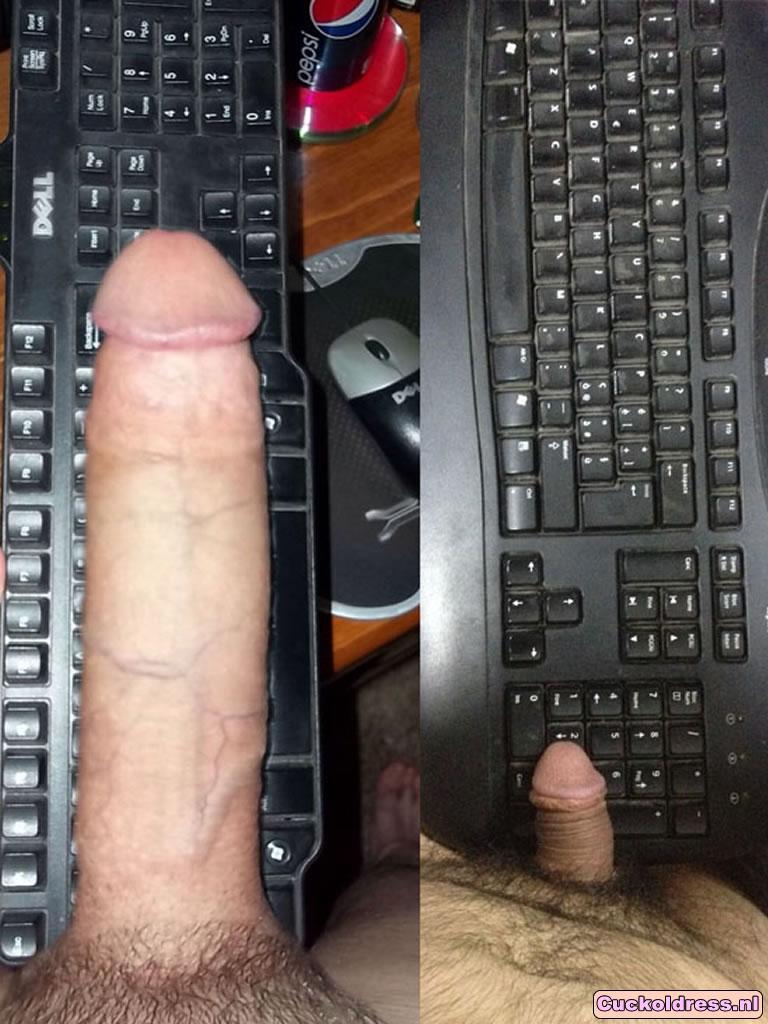 Toetsenbord vergelijking grote en kleine lul!
